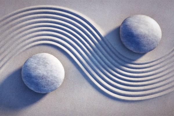 2 Steine im Zen-Garten